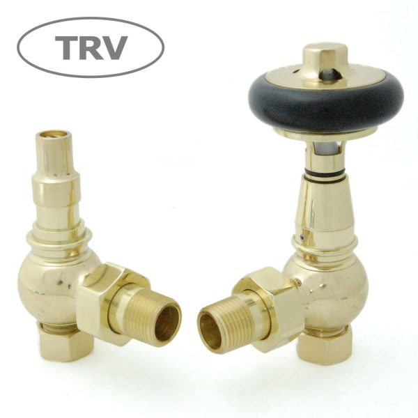 AMB-B Amberley radiator valves brass