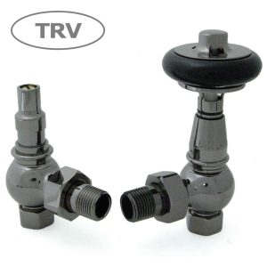 AMB-BL Amberley radiator valves black nickel