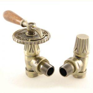 BEN-LEV-AB Bentley lever radiator valve antique brass