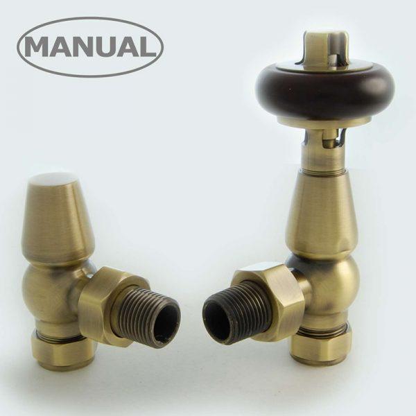 ETO-AG-AB Eton radiator valve antique brass manual