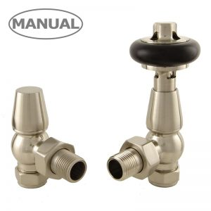 ETO-AG-SN Eton radiator valves manual satin nickel