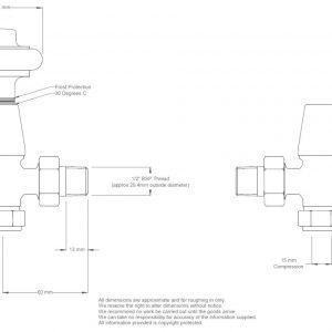 ETO-AG-SN Eton radiator valves manual satin nickel sizes