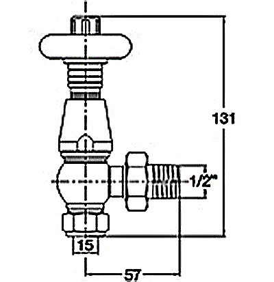 Bentley thermostatic radiator valve sizes dimensions
