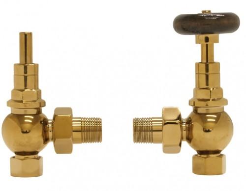brumpton radiator valve brass 2 Carron - LD090