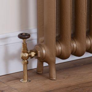 brumpton radiator valve brass 3 Carron LD090