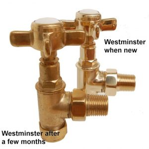 WESTMIN-AG-UB westminster victorian cast iron radiator valve detail